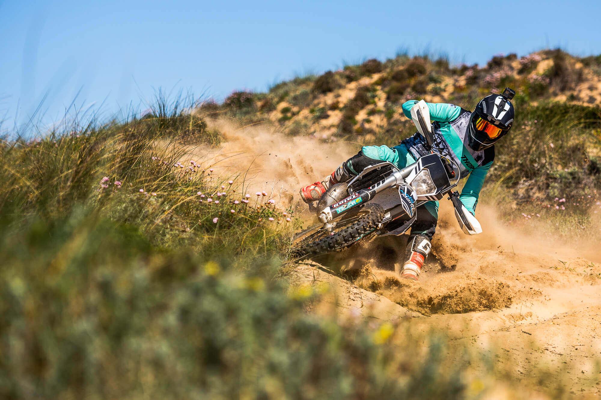 Motocross Profi Sebastian Wolter in Action